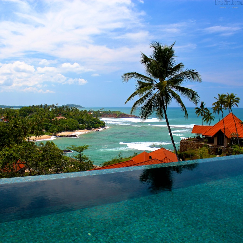 The view from the first floor swimming pool in the Cape Weligama Residence